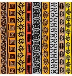 Seamless pattern with ethnic african motifs vector