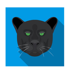 Black panther icon in flat style isolated on white vector