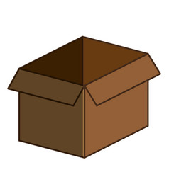 Carton box packing icon vector