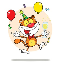 New years tiger cartoon vector