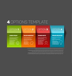 Four product service options template vector