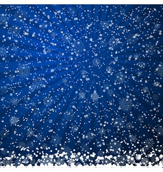 Winter backdrop with falling snow vector