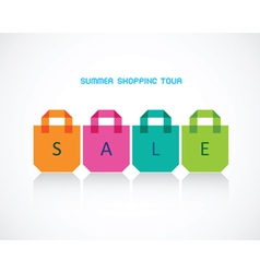 Four bright bags for summer purchases vector