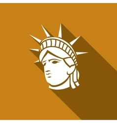 Statue of liberty new york landmark american vector