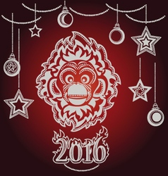 New year of the monkey vector