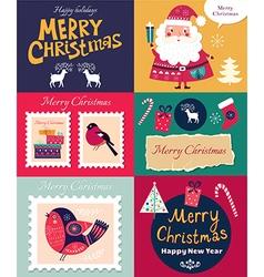 Set of Christmas banners vector image