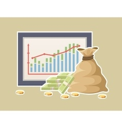 Financial statistics with graph vector image