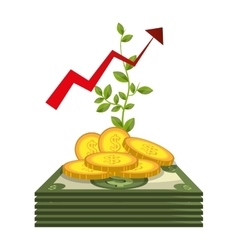 Economic growth design vector