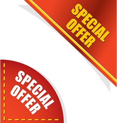 Special offer template for your design angle red vector