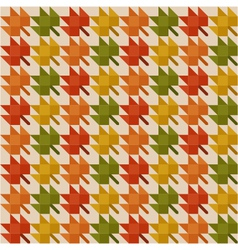 Abstract pattern with autumn leaves vector