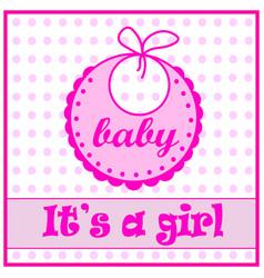 Baby bib for girl vector