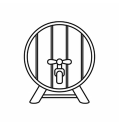 Beer barrel icon outline style vector