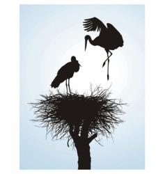 betrothal storks vector image vector image
