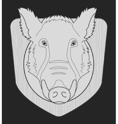 Boar head chalk vector image vector image