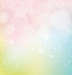 bokeh and smooth pastel background vector image