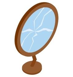 Broken mirror icon isometric 3d style vector