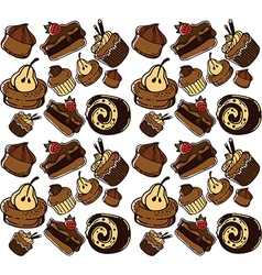 Cakes pattern vector