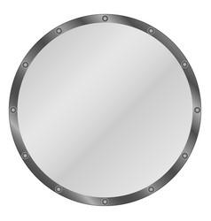 circle shield vector image vector image