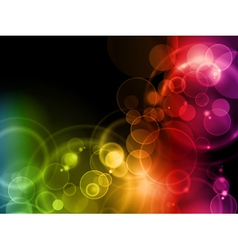 colorful magic lights vector image vector image