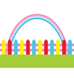 fence rainbow vector image