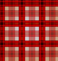 Festive red checkered seamless pattern vector image