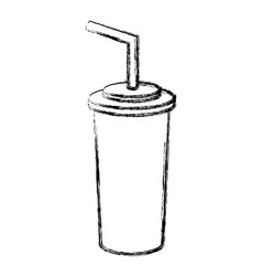 figure soda beverage in the cinema movie scene vector image vector image
