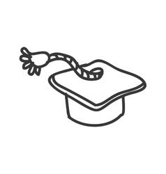 Graduation cap icon sketch design graphic vector