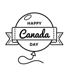 happy canada day greeting emblem vector image