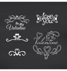 Happy Valentines Day Blackboard background vector image vector image
