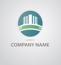 logo of the construction company vector image vector image
