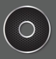 Metal grid font - letter O vector image vector image
