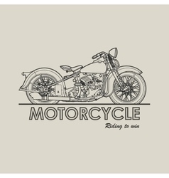 Motorcycle retro poster vector image