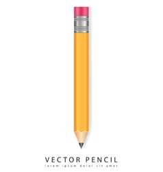 Pencil isolated on white background Realistic vector image