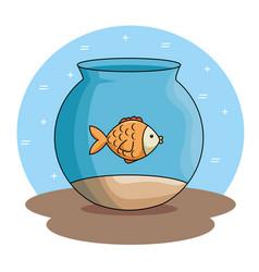 Pet fish in aquarium vector