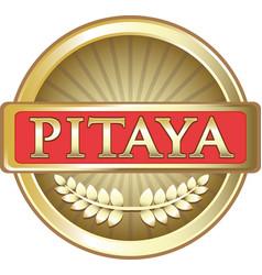 Pitaya gold icon vector