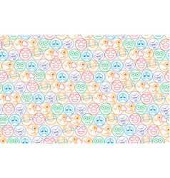 seamless background in the form of an smiles vector image vector image