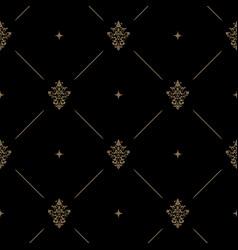 seamless dark pattern decor vector image vector image