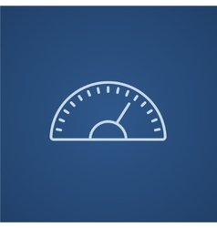Speedometer line icon vector image