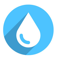 white water drop sign circle icon vector image
