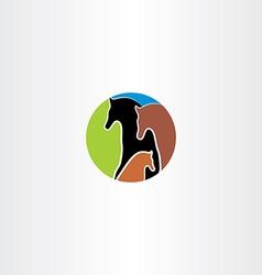 horse family logo vector image