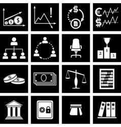 economy icons vector image