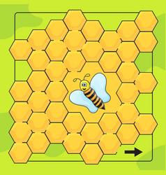 bee and honeycomb game for preschool children vector image