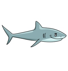 Smiling ferocious shark vector