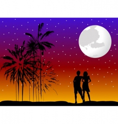Couple romantic vector
