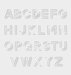 Decorative alphabet vector