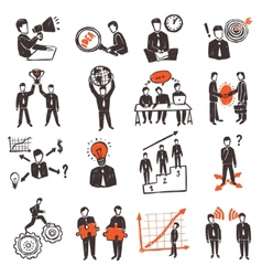 Meeting people icon set vector