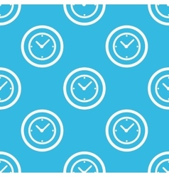 Clock sign blue pattern vector