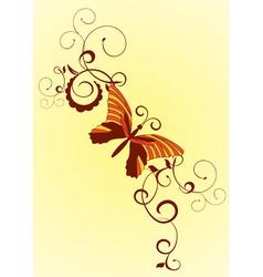 decorative vector orange butterfly vector image