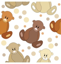 seamless pattern with teddy bears vector image