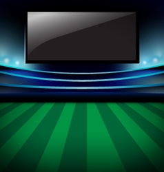 Football arena soccer stadium and monitor design vector